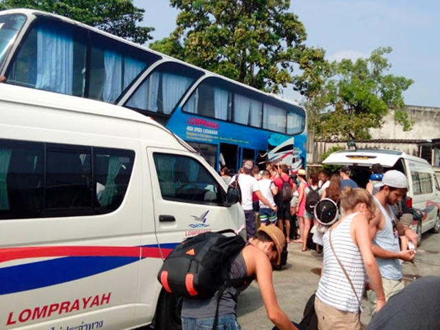 krabi to koh phangan Krabi To Koh Phangan by Bus and Ferry Arriving the bus center then take AC Bus to Donsak pier