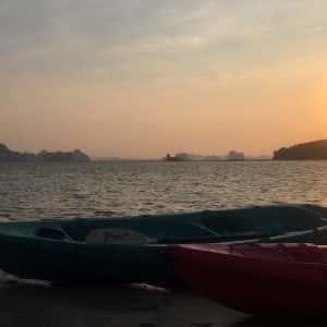 ao thalane sunset kayak and bbq , sunset kayak, ao thalane krabi, sunset kayak tour, dinner on the beach