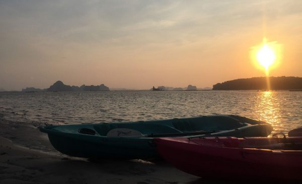 ao thalane sunset kayak and bbq , sunset kayak, ao thalane krabi, sunset kayak tour, dinner on the beach