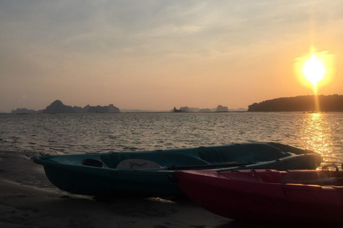 Ao Thalane Sunset Kayak And BBQ Dinner On The Beach from Krabi things to do Things to Do, Destination, Tours & Activity CoverKayakBBQ 700x466
