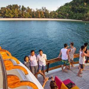krabi 4 island sunset, island sunset, lalida cruise, lalida sunset cruise