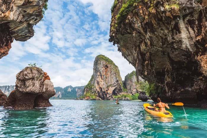 Kayaking at Ao Thalane Krabi