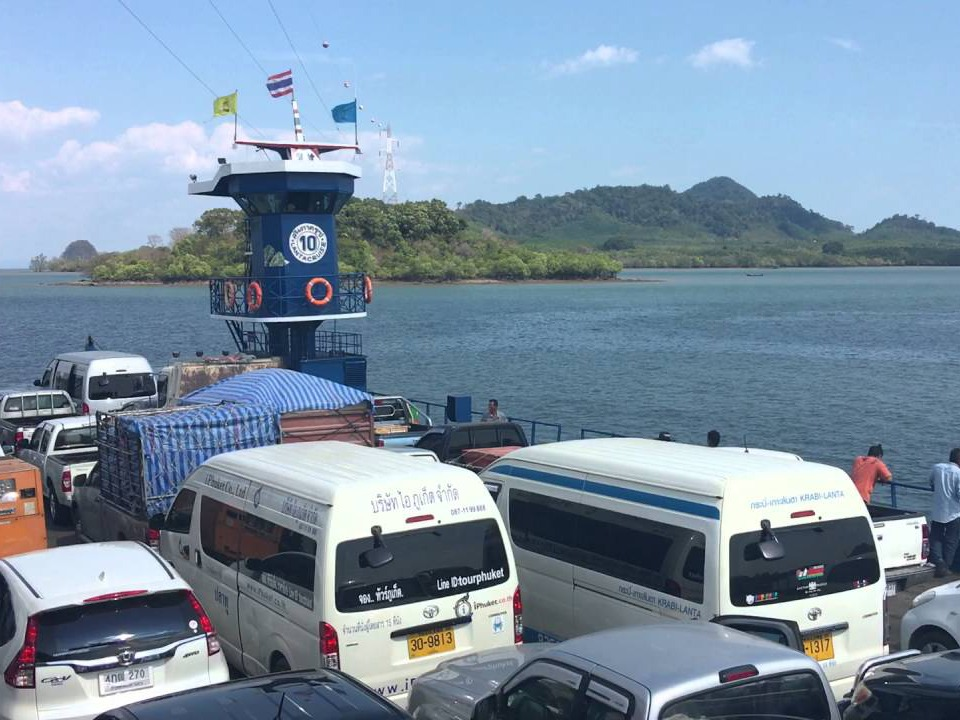 krabi to koh lanta Krabi To Koh Lanta  by Shared Air-conditioner Van The vans across the sea with car ferry