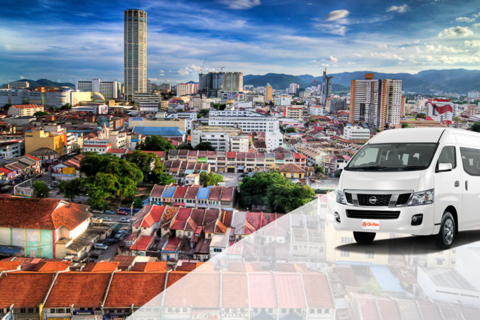 Transportation service from Krabi To Penang (Malaysia) by A/C Van