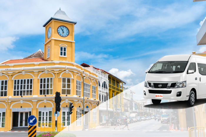 Transportation service from Krabi To Phuket Town by A/C Van