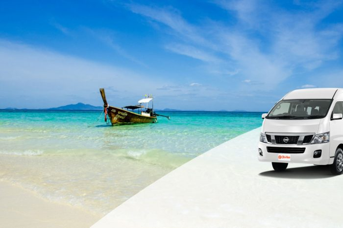 Transportation service from Krabi To Koh Kradan by A/C Van and Longtail Boat