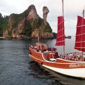 krabi romantic dinner, krabi sea cruise, dinner sunset cruise