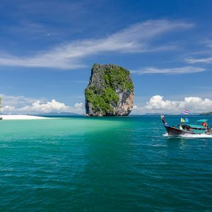 krabi 5 islands, talu cave snorkeling, tour, longtail boat