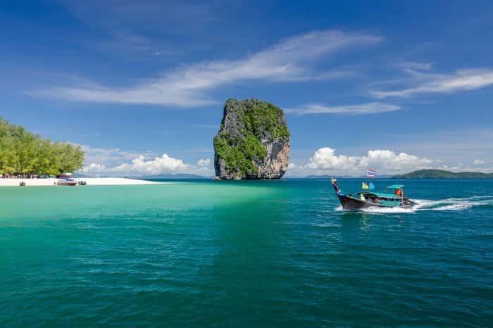 Krabi 5 Islands+Talu Cave Snorkeling Tour by Longtail Boat