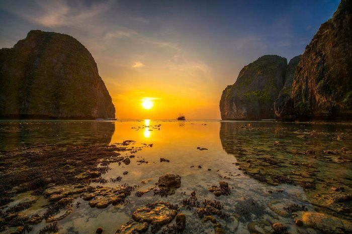 Phi Phi Island Sunset Tour From Phi Phi by Longtail Boat things to do Things to Do, Destination, Tours & Activity Phi Phi Island Sunset Tour From Phi Phi by Longtail Boat 1 700x466