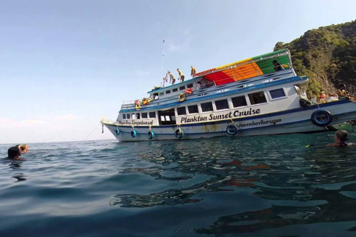 Maya Bay Sunset Cruise and Plankton Swimming From Phi Phi things to do Things to Do, Destination, Tours & Activity Maya Bay Sunset Cruise and Plankton Swimming From Phi Phi Cover 700x466