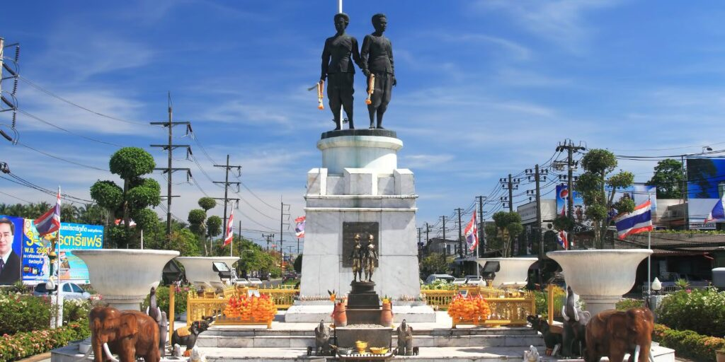 the famous places in phuket the famous places in phuket The famous places in Phuket must visit and should come to travel once Thao Thep Kasattri ThaoSri Sunthon Monument of Thalang 1024x512