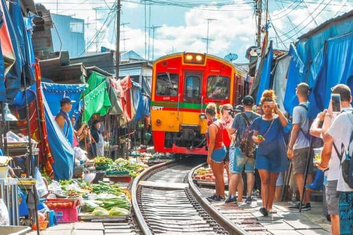 Railway Market and Floating Market Half Day Tour Near Bangkok