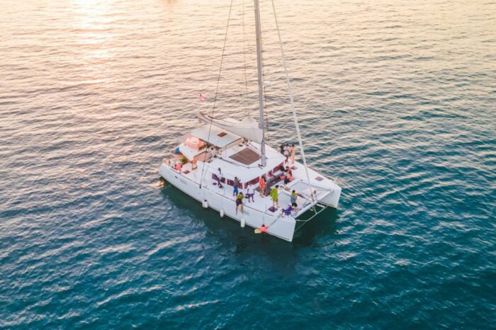 Sunset Cruise to Koh Hey (Coral Island) in Phuket by Sailing Catamaran